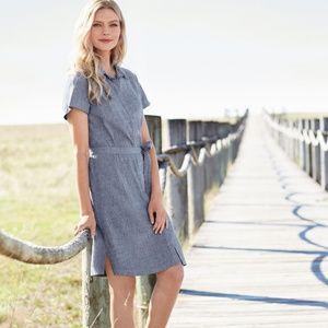 Pendleton Aimee Chambray Dress button front dress